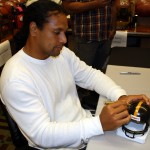 Polamalu Signing Steelers Helmet